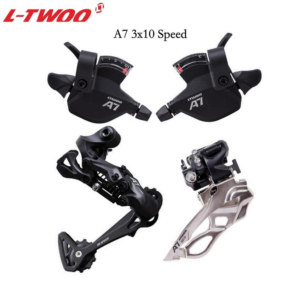 Ltwoo groupset ltwoo a7 3x10 velocidade shfter alavanca + desviador dianteiro traseiro groupset para mtb bicicleta 30 velocidade cassete 32 t 36 t