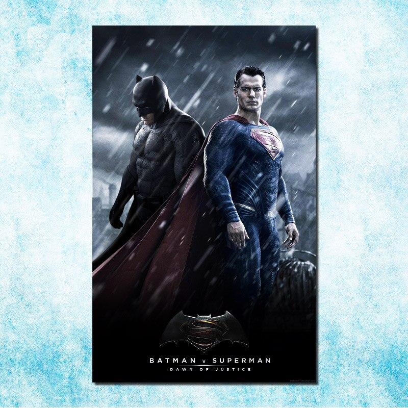 Бэтмен против Супермена-на заре справедливости фильм Art Шелковый Холст плакат 13x20 24x36 inch Superhero Изображение декор комнаты (больше) -2