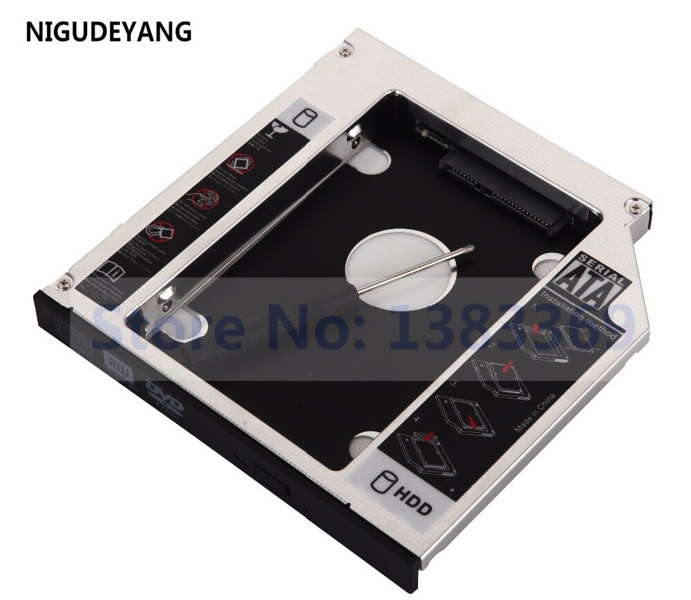 NIGUDEYANG 2nd Disco Duro HD SSD Caddy para Toshiba TECRA s10-128 A10-1HG S11 DV-W28S UJ870A