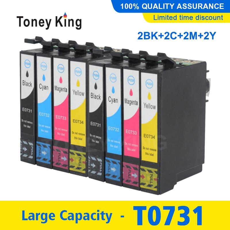 2 Set Compatible cartucho de tinta para Epson T0731 T0731N 73 Para Stylus TX210 TX100 TX105 TX200 TX209 TX300f TX400 TX409 TX600F