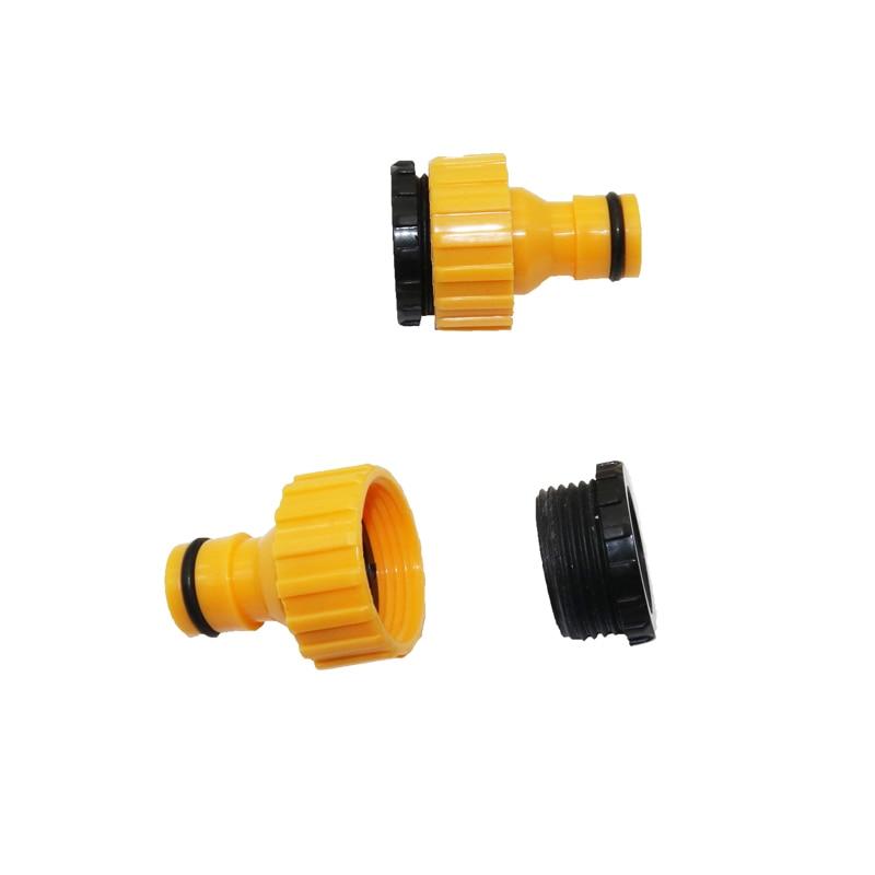 2 pçs conector de mangueira torneira padrão conector rápido máquina lavar roupa canhões água e um jardim gramado sistema sprinkler tubulação