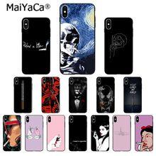 MaiYaCa cigarrillo silicona blanda de TPU teléfono negro, caso para el iPhone de Apple 8 7 6 6S Plus X XS X MAX 5 5S SE XR cubierta