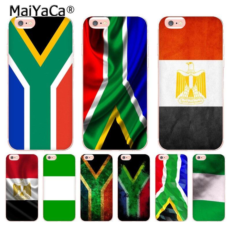 Maiyaca egito áfrica do sul nigéria bandeira coque escudo caso de telefone para iphone 11 pro 8 7 6s plus x 5 xs xr xsmax