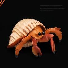Originale genuino sealife animale Grande mare animali Eremita Granchio figure da collezione figurine per bambini giocattoli educativi per bambini