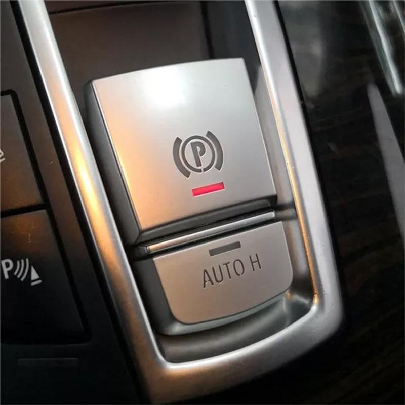 Interruptor do Travão de estacionamento P Botão Tampa ABS Chrome Para F10 F07 F01 X3 F25 X4 F26 F11 F06 X5 F15 X6 F16 Acessórios