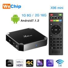 Wechip X96 Mini Smart Android 7.1 Tv BOX 2G 16G décodeur IPTV Box 1G 8G X96mini support 4K HD 2.4G lecteur multimédia WIFI sans fil