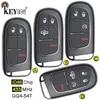 KEYECU 433MHz ID46 puce GQ4-54T 2 + 1/ 3 + 1/ 4 + 1 3 4 5 boutons télécommande clé pour Ram 1500 2500 3500 2013-2018