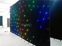 free shipping rgbw led star curtain 3x6m made in china