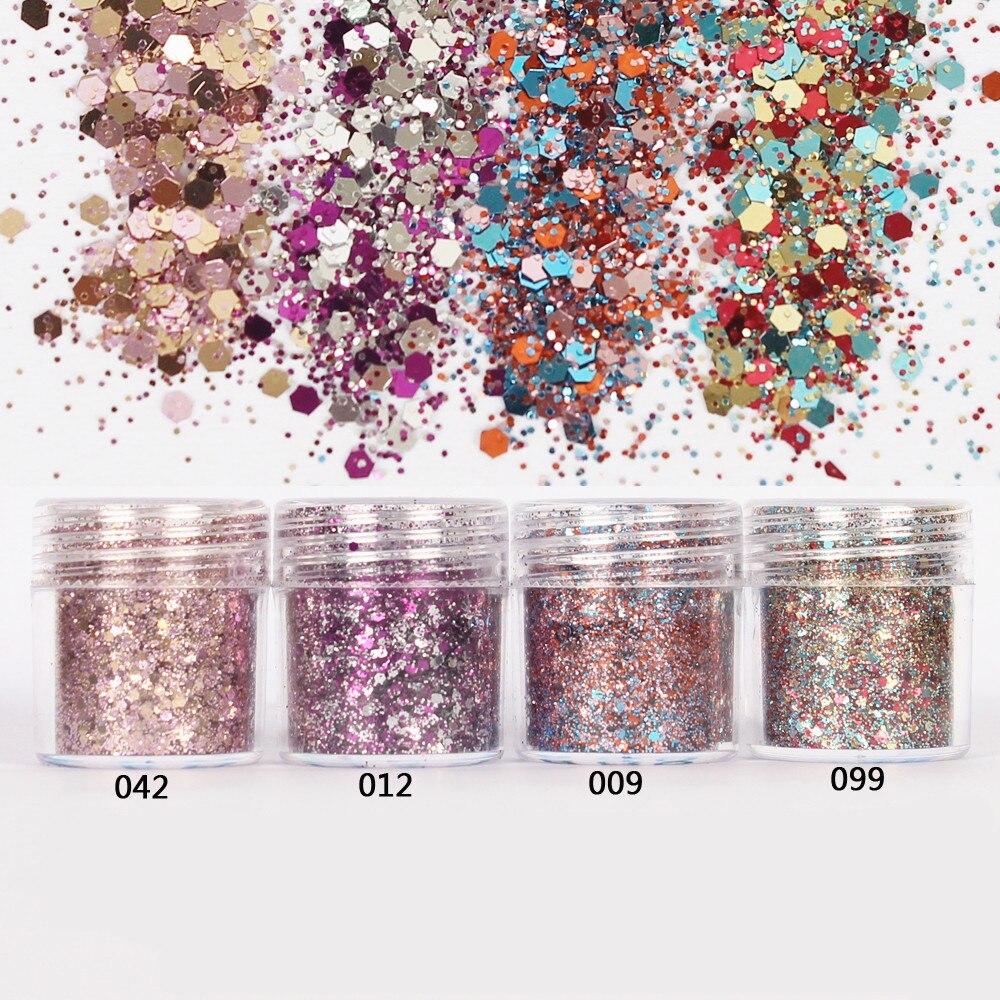 1 фляга/коробка для ногтей, 10 мл, розовый, розовый, смешанный цвет, блестящий порошок для ногтей, блестящий порошок для гелевого украшения ногтей, 300 цветов, 4-72
