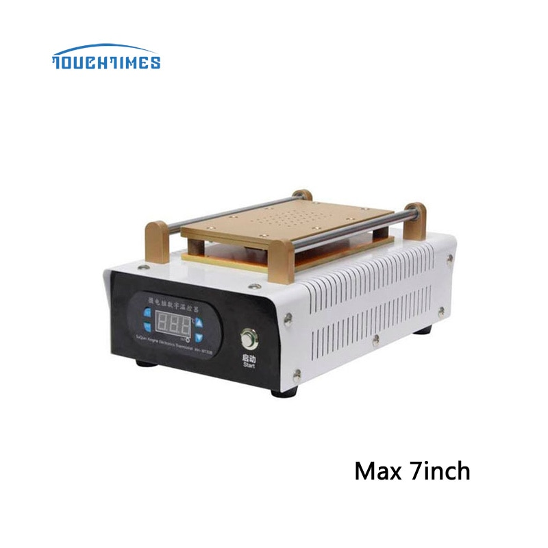 Free Shipping Max 7 inch Touch Screen Glass Separating Machine Vacuum LCD Separator Machine Built-in Pump manual vacuum separator newest 7 inch lcd separating tbk 988 with built in vacuum pump touch screen separator machine