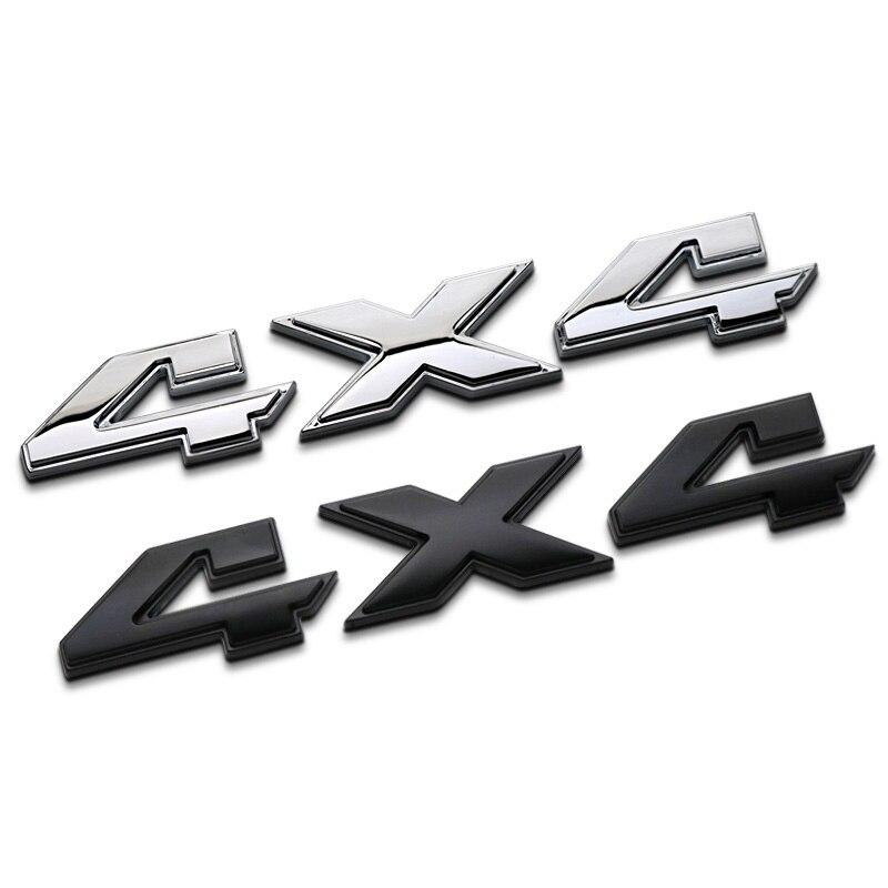 Estilo do carro 3d metal de alumínio chrome 4x4 logotipo deslocamento emblema emblema caminhão auto motor adesivo decalque para jeep everbright dodge