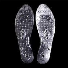 1 paire de semelles de Massage magnétothérapie semelles de chaussures respirantes coussinet dacupoint magnétique chaussures semelles accessoires Inserts 27cm