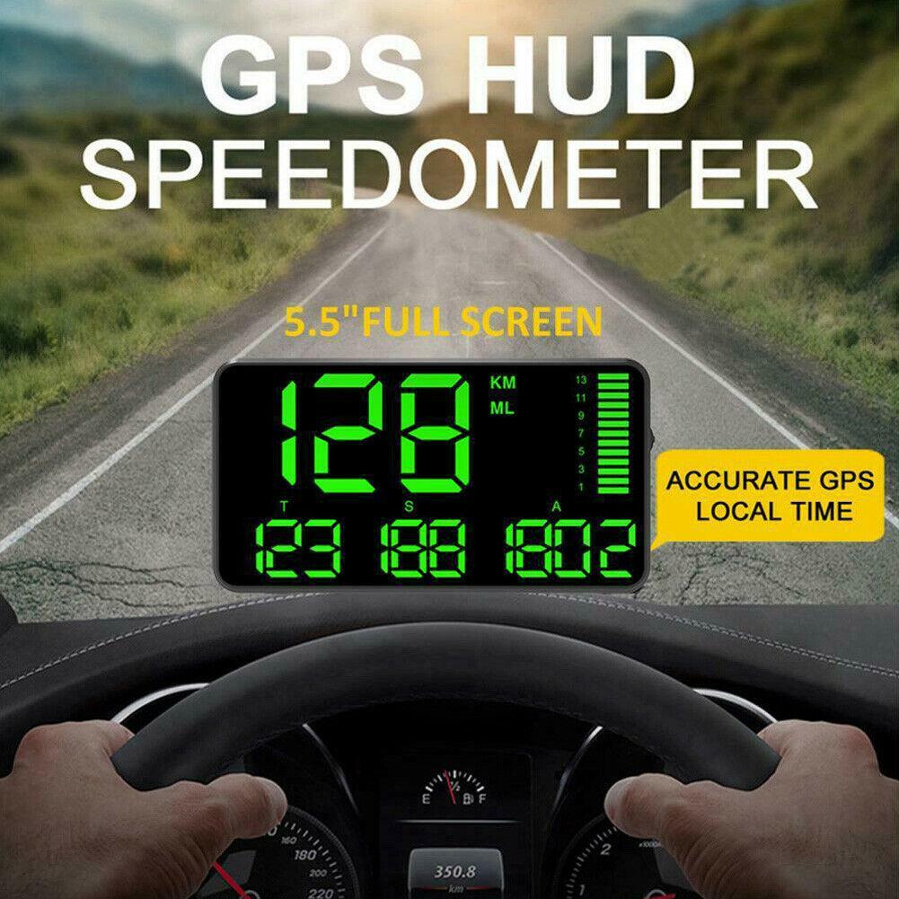 Pantalla frontal para coche Digital Universal GPS HUD, velocímetro, alarma de advertencia de velocidad