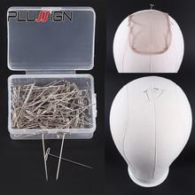 Épingles en T pour perruques 100 pièces   En acier inoxydable, 38Mm/1.5 pouces pour bloquer le tricot, modélisation et artisanat boîte en plastique 1