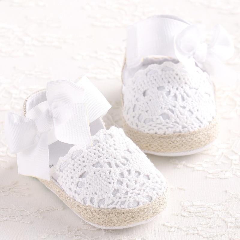 Bebe romirus niña recién nacido zapatos Primavera Verano dulce muy ligera Mary Jane lazo grande de punto baile bailarina vestido cochecito cuna zapato