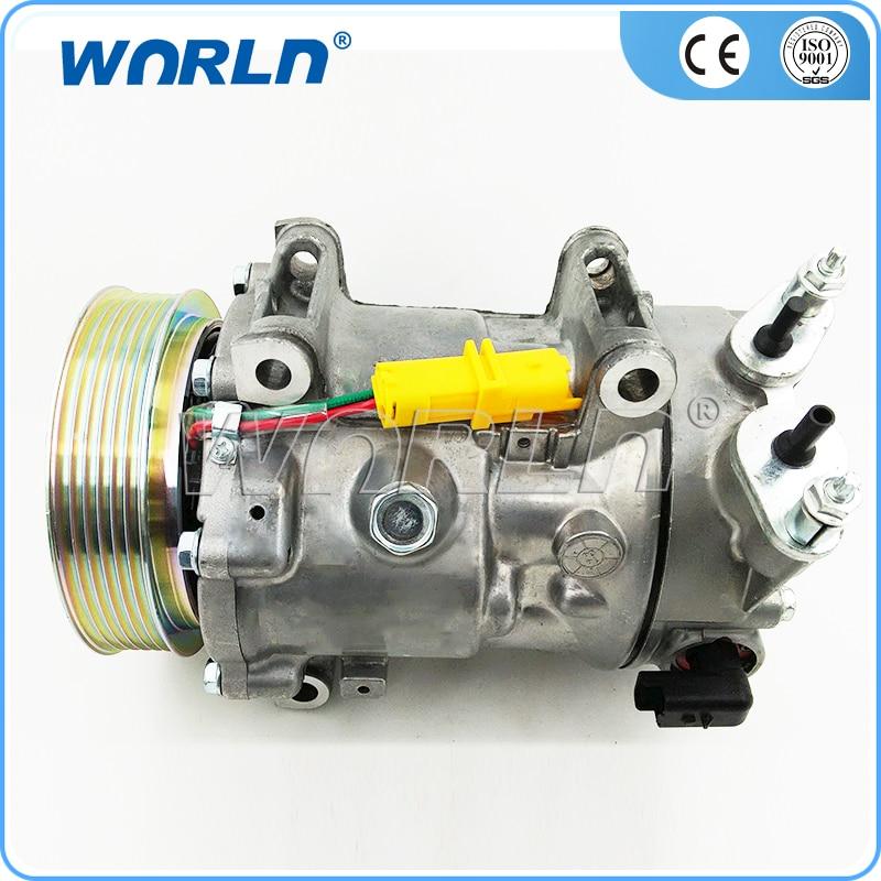 AUTO A/C compresor para PEUGEOT 408/4008/Citroen C5/3008/308/1,6/2,0, 2007-2013 6453.QK/ 9651910980/9659875780/6453 QJ/6453.QJ