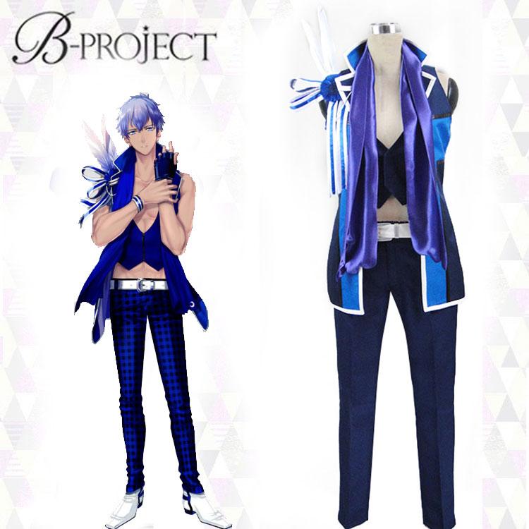 Traje de Cosplay japonés de Anime b-project Tatsuhiro Nome, traje de uniforme de Halloween, abrigo + Top + Pantalones + guantes + bufanda hecha a medida
