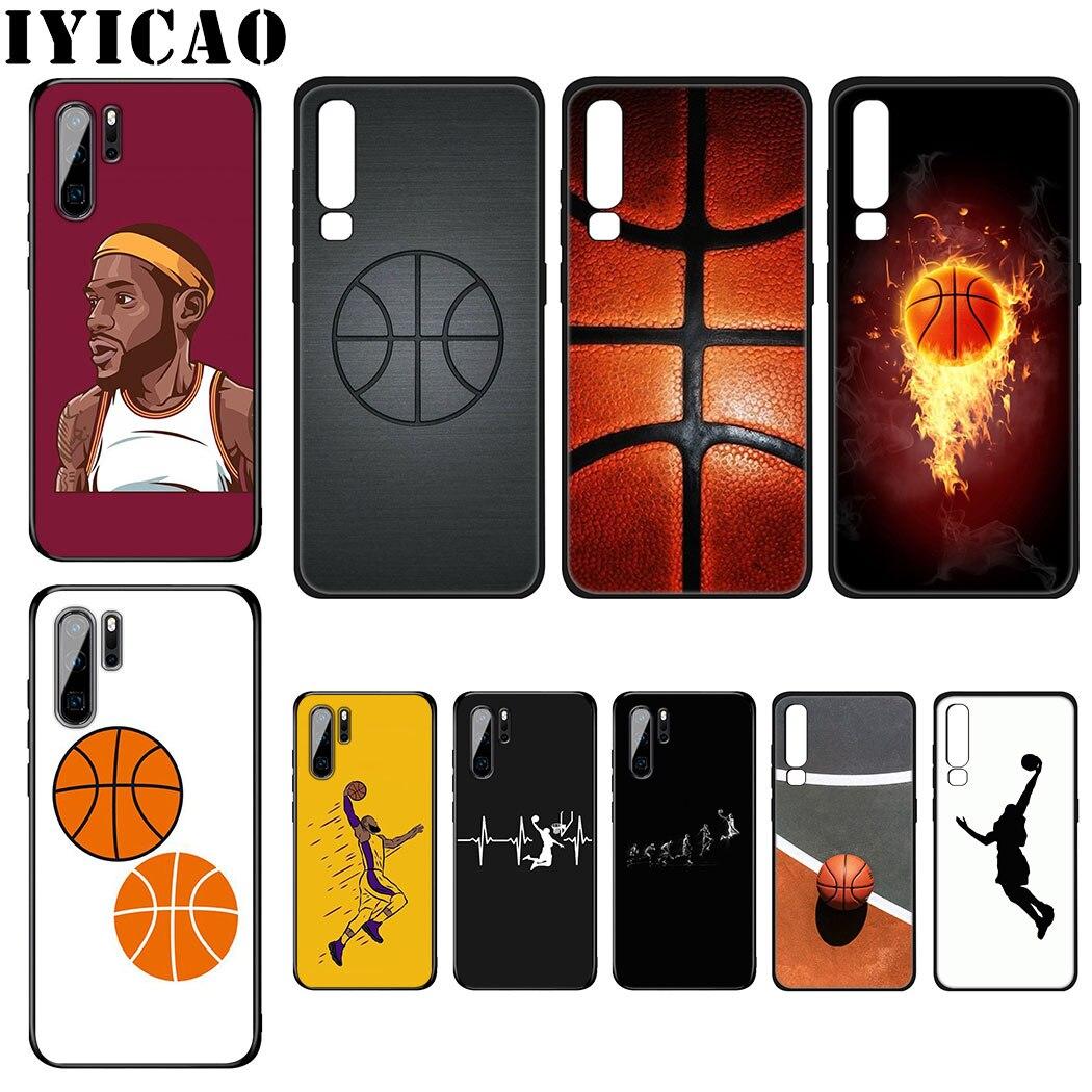 IYICAO deporte del baloncesto funda de silicona suave para Huawei P Smart P30 P20 P10 Lite Pro funda de teléfono