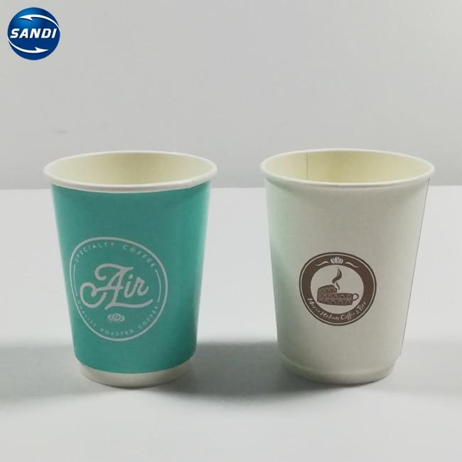 Taza de papel desechable de café con LOGO, personalizada, barata