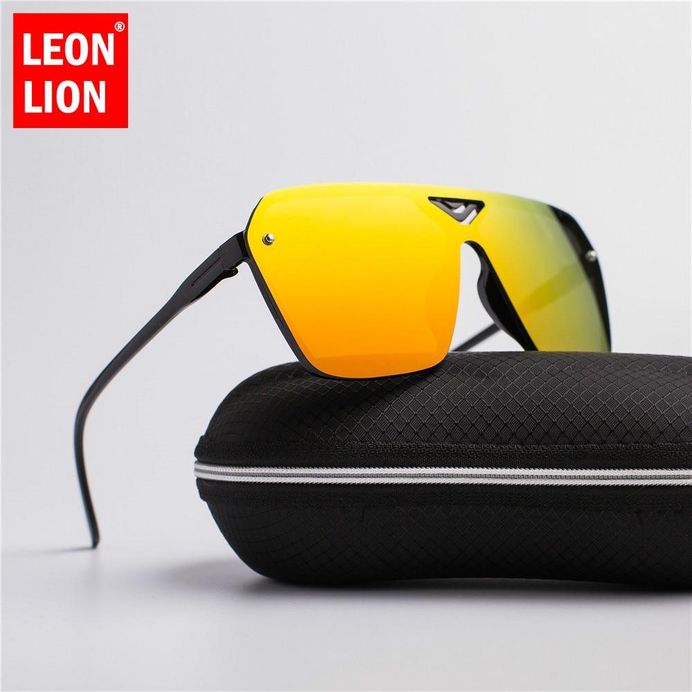Nuevas gafas de sol LEONLION de plástico para conducción masculina, gafas de sol deslumbrantes para hombres, gafas de sol Retro de diseño moderno para hombres