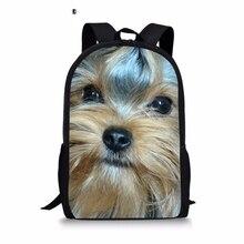 Yorkshire Terrier personnalisé imprimé sac à dos femmes sacs décole pour filles livre de voyage pour adolescents Softback sacoche livraison directe