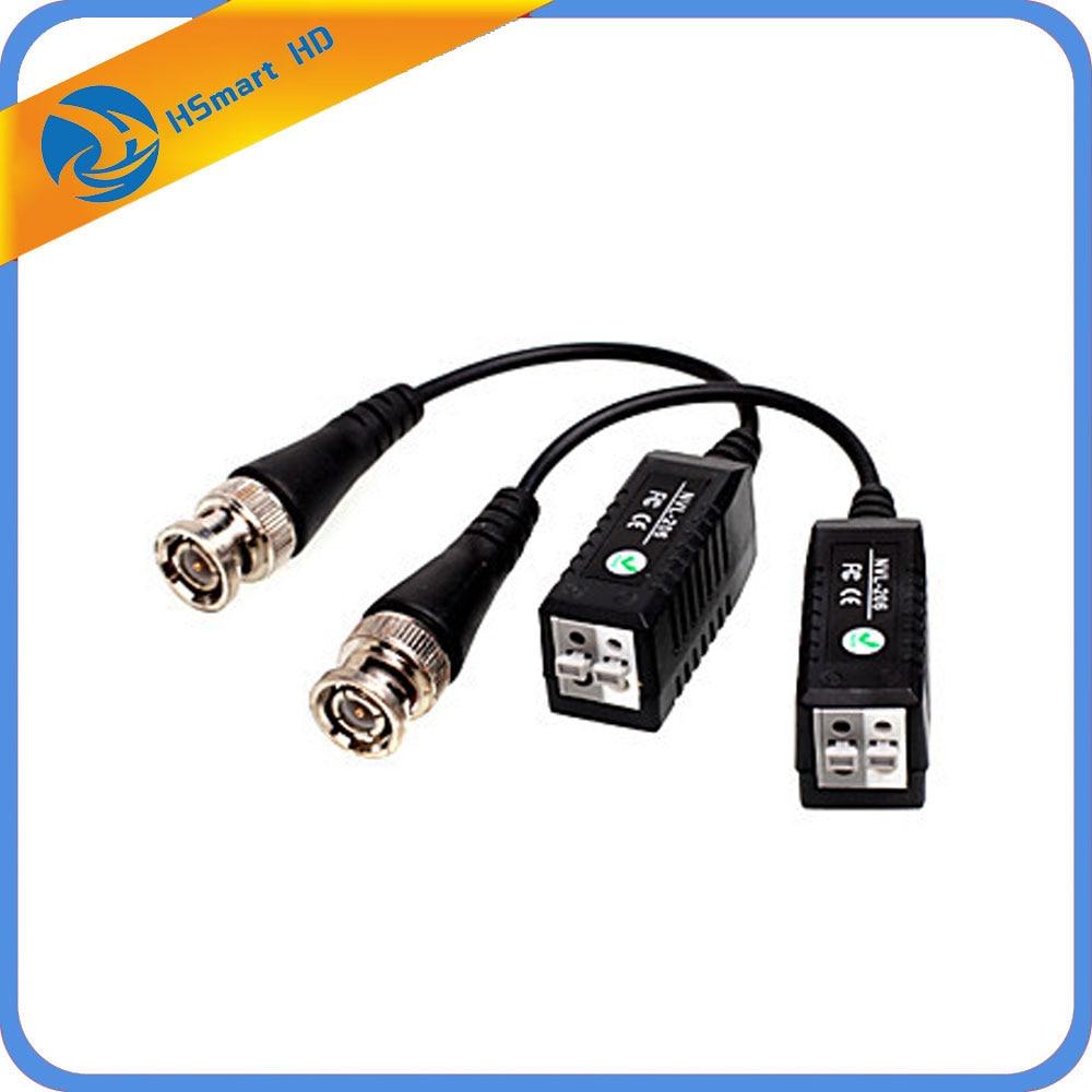 2PCSx BNC видео Пассивный Balun к UTP разъем камера видеонаблюдения приемопередатчик новый для dvr рекордер наборы
