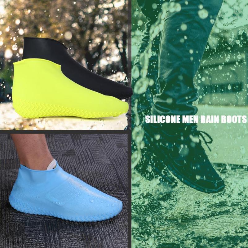 Dia chuvoso à prova dwaterproof água sapatos capa de borracha de silicone macio antiderrapante botas de chuva masculina feminina sapatos de flexibilidade protetores capa