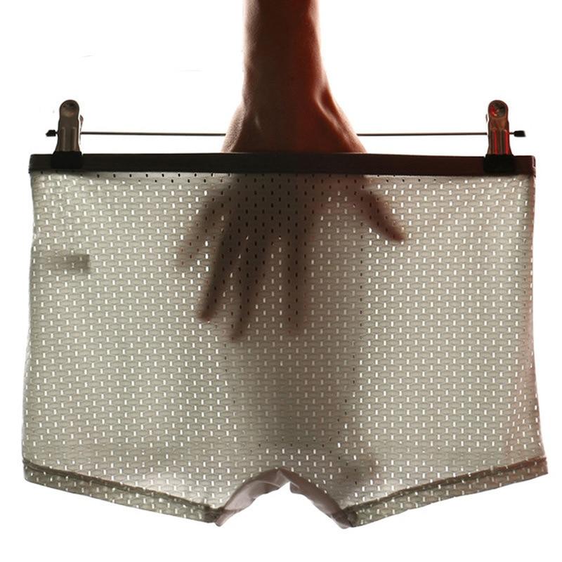 Marca de ropa interior, nueva ropa interior de malla para hombre, calzoncillos Boxer de Modal, Calzoncillos Bóxer transpirables, calzoncillos para hombres, ropa interior masculina Sexy, Cueca