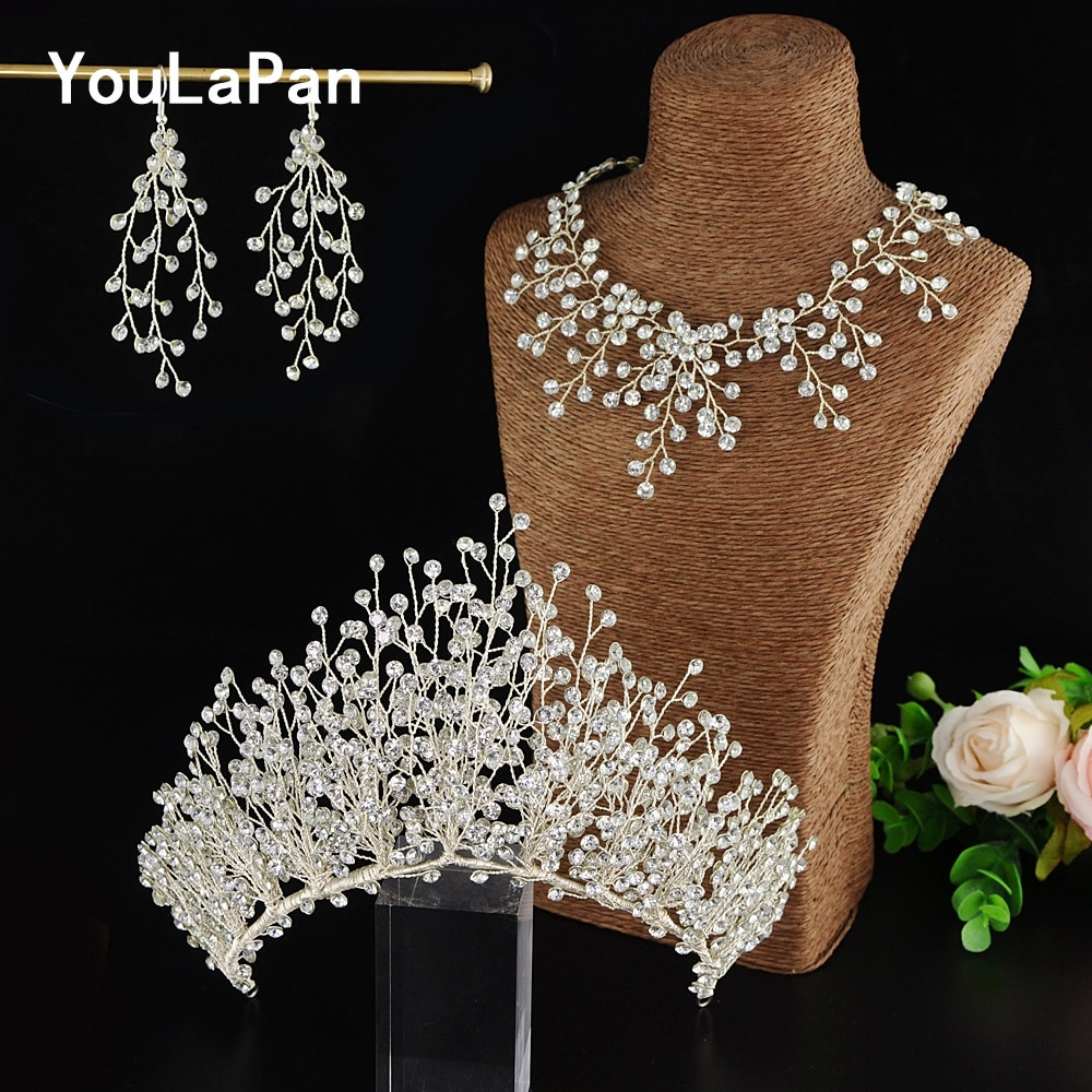 YouLaPan HP193 Bride Crown Bridal Tiara Wedding Hair Crown Bride Crown Bridal Wedding Hair Jewelry Princess Diadem Accessories