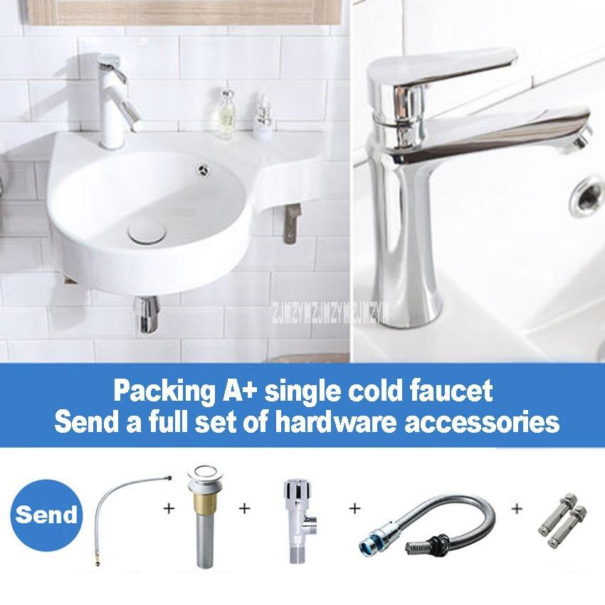 Ceramic Simple Wall-mounted Small Apartment Mini Wash Basin Corner  Basin Bathroom Balcony Basin Simple Sink Left/Right Basin