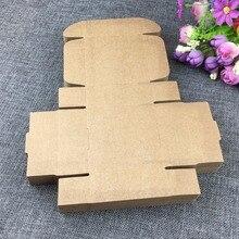 Boîte en papier Kraft 100*7.5*3cm   Boîte à bijoux, emballage vierge, mallette de transport, présentoir en carton pour accessoire, 7.5 pièces/lot