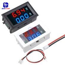 Mini Digital Voltmeter Amperemeter DC 100V 10A 0,56 zoll Panel Amp Spannung Strom Meter Tester Blau Rot Dual LED display Monitor