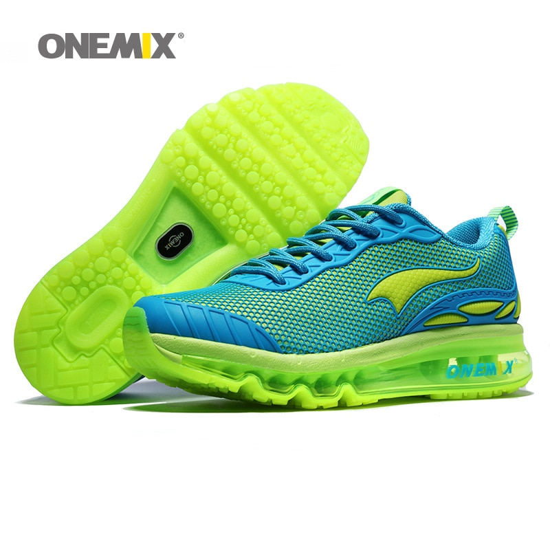 Zapatillas ONEMIX Max para correr para mujer, bonitas Zapatillas deportivas azules para bebé, calzado deportivo con cojín para caminar al aire libre