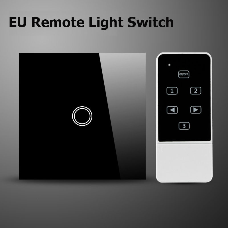 Makegood الاتحاد الأوروبي القياسية لمس لوحة زجاج الشاشة والتحكم عن بعد مفتاح الإضاءة 1 عصابة 1 طريقة ، المنزل الذكي الكهربائية الجدار مفاتيح