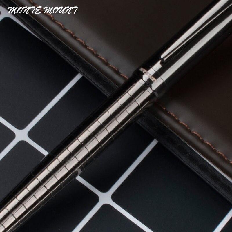 Роскошная металлическая серая шариковая ручка MONTE MOUNT в клетку