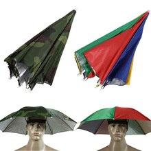 Coloré/camouflage parapluie chapeau chapeau ombre de soleil Camping randonnée extérieur Parasol parapluie chapeau chapeau extérieur Camping pêche outils
