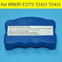 1 PC reseteador de T2771-T2776 T2771XL T242 T2421-T2426 T243 T2431-T2436 para Epson XP-850 XP-950 XP-750 XP-760 XP-860 impresora