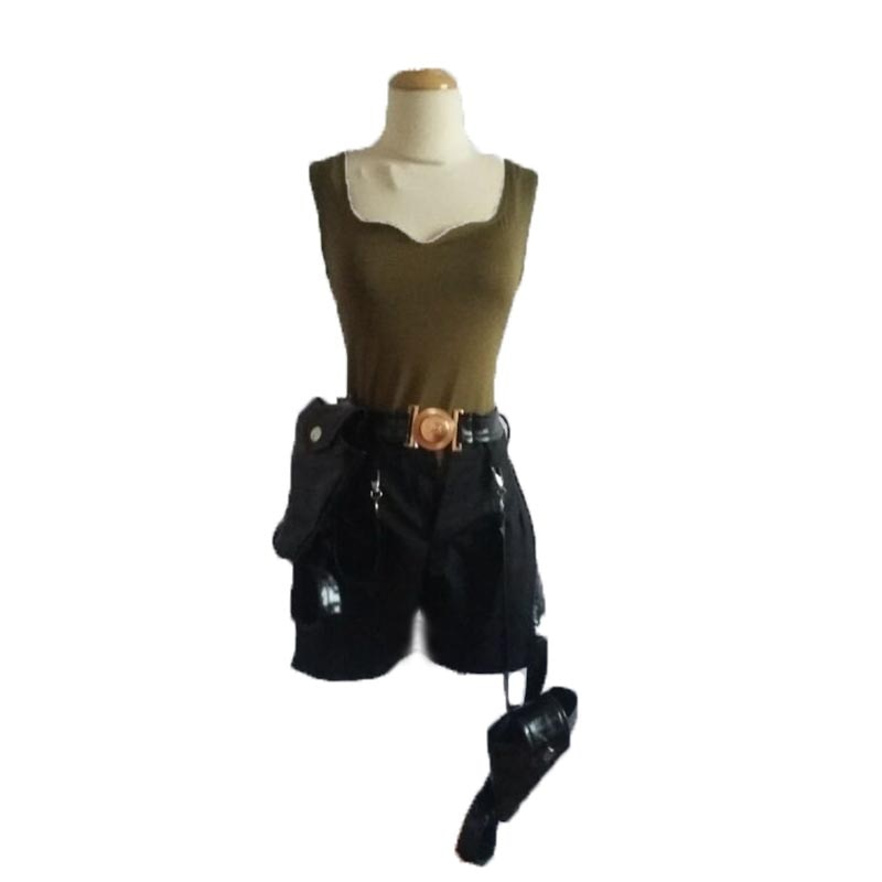 Tomb Raider Lara Croft تأثيري زي مع حقيبة بندقية 11