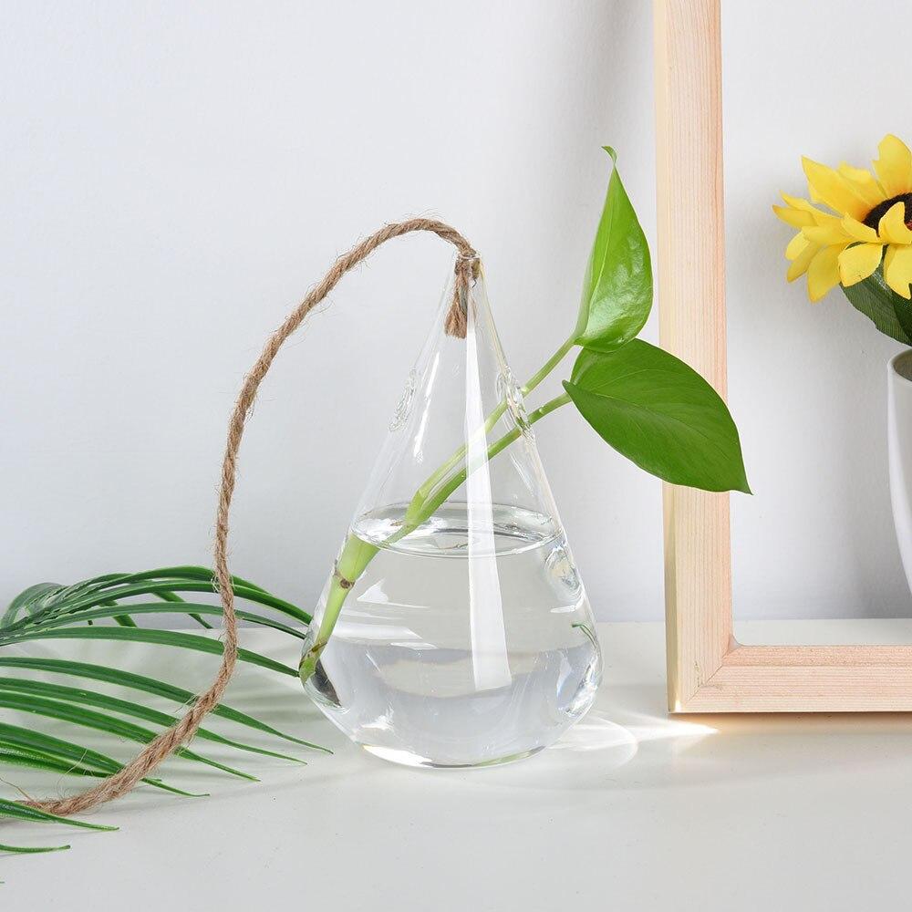 Casa jardim pendurado vaso de bola de vidro cesta flor vaso planta terrário recipiente festa casamento criativo pendurado decoração vaso