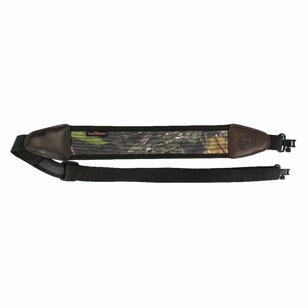 Tourbon Hunting Gun Accessories Camo Neoprene Rifle Gun Sling Baldric Shooting Shotgun Belt Shoulder Strap w/ Swivels Adjustable