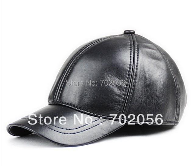 2018 mens real sheepskin Leather Visors Ball Caps casual HAT CAP 12pcs/lot #3111
