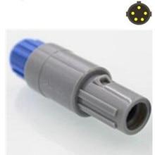 LEMO fiche mâle circulaire en plastique   Verrouillage automatique, Push-Pull, 5 broches, avec connecteur/prise à fente unique, 10 pièces/lot