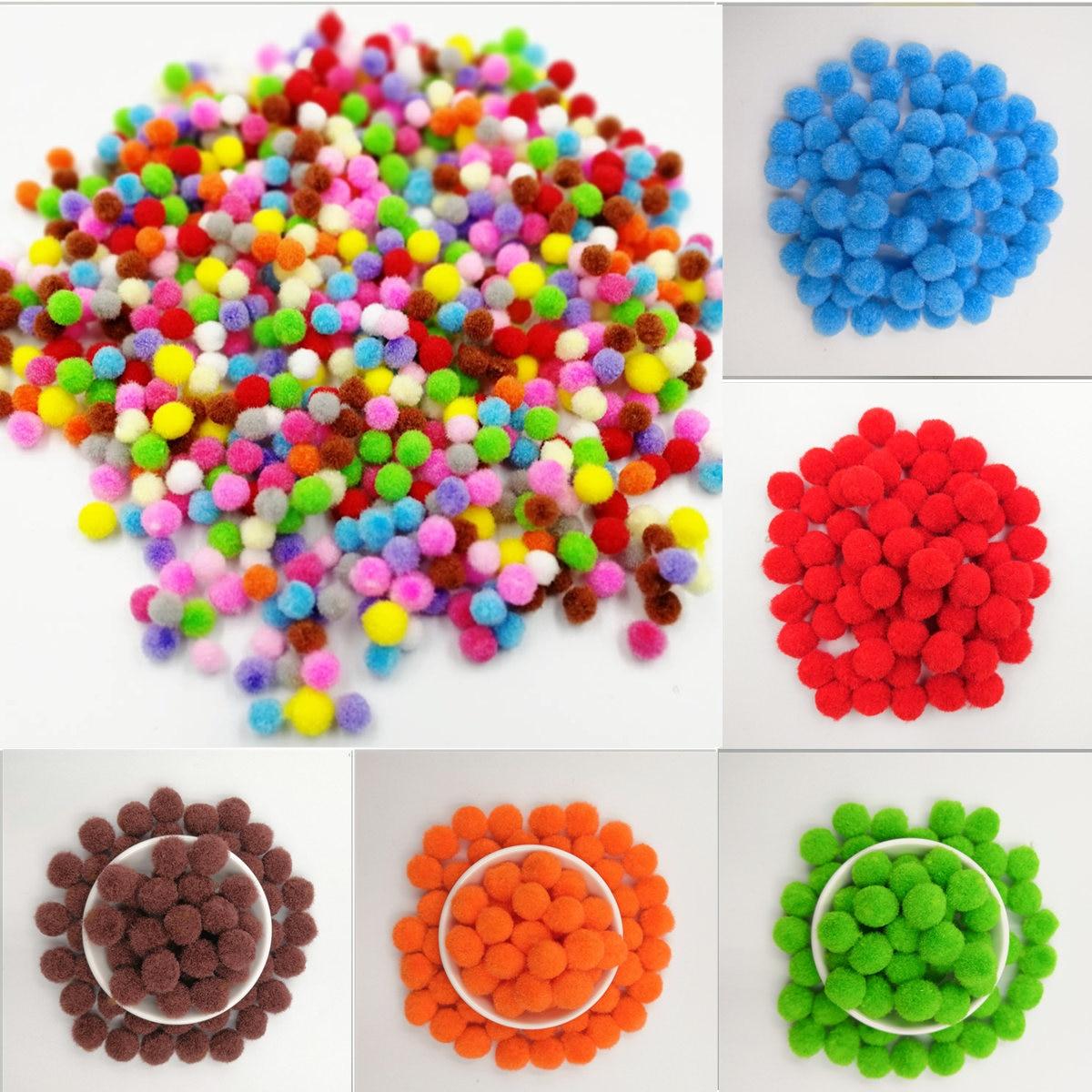 120 teile/los 10mm Pompom Weiche Pompones Flauschigen Plüsch Handwerk Multicolor Pom Poms Ball Furball Wohnkultur Kinder Spielzeug DIY liefert