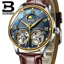 2020 nouveau mécanique hommes montres Binger rôle de luxe marque squelette poignet saphir étanche montre hommes horloge mâle reloj hombre