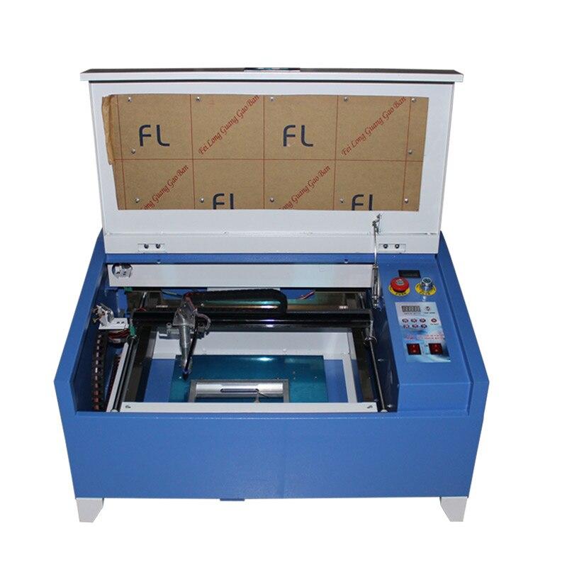 Fresadora láser CO2 de 30x40cm para grabado y fresado, de 40W, para carpintería, grabado en piedra o industrial