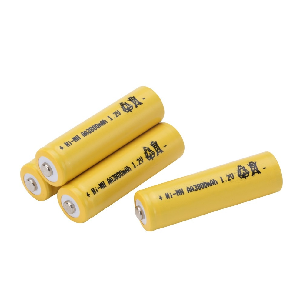 GTF AA 1,2 V 3800mAh batería AA Ni-MH 1,2 v batería recargable para juguetes controlador antorcha despertador Cámara celdas Color