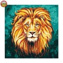 Peinture par numéros pour décor de maison   Peinture artistique, par numéros, peinture bricolage, lion mâle, tête de lion