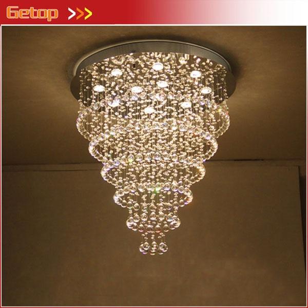 ¡Mejor precio! K9 lámpara de cristal, lámpara de techo de cristal con bombillas LED GU10, luces para sala, dormitorio, restaurante