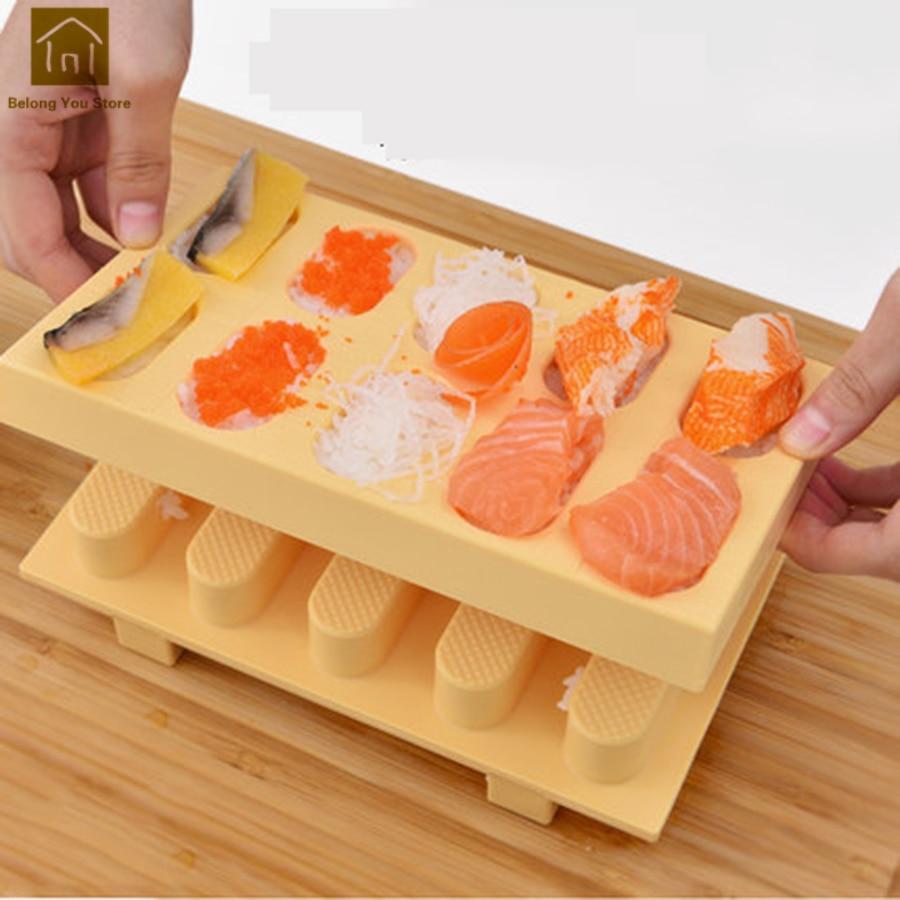 Lindo molde de arroz de sushi, máquina de plástico DIY, molde para sushi s, Kit DE FABRICACIÓN, molde, herramientas de Ferramentas, accesorios de cocina WKG054
