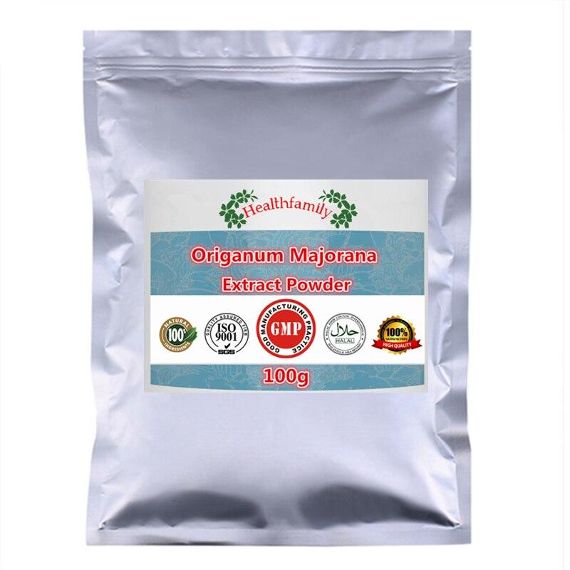 Polvo de extracto de 100% natural pura Origanum Majorana, extracto de mejorana orgánica, polvo de mejorana dulce, importación de China envío gratis